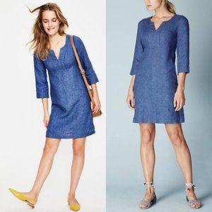 Boden 100% Linen Tunic Dress - 6 petite